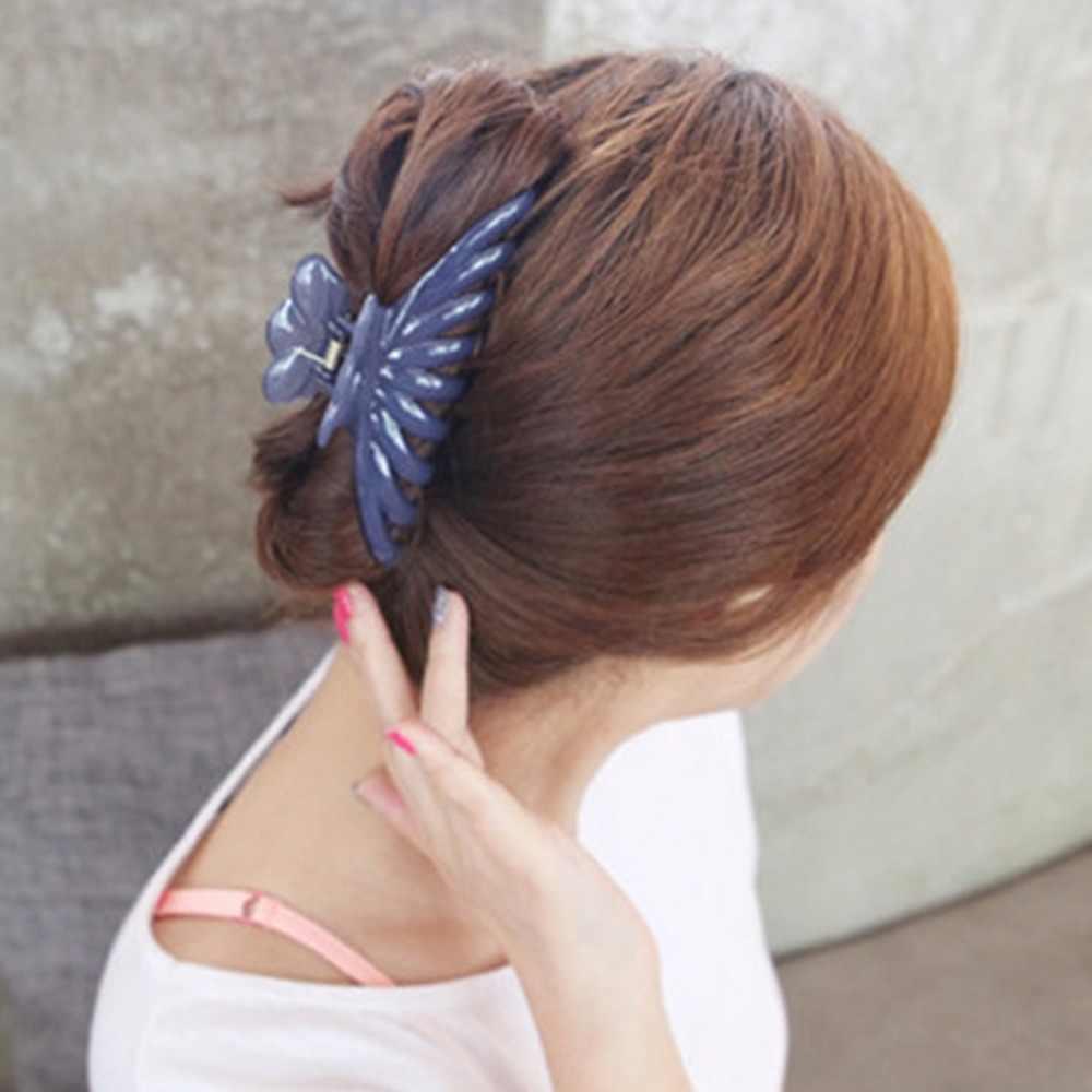 キャンディー無地アクリル大サイズの毛の女性メイクカニクランプクリップ装飾アクセサリー