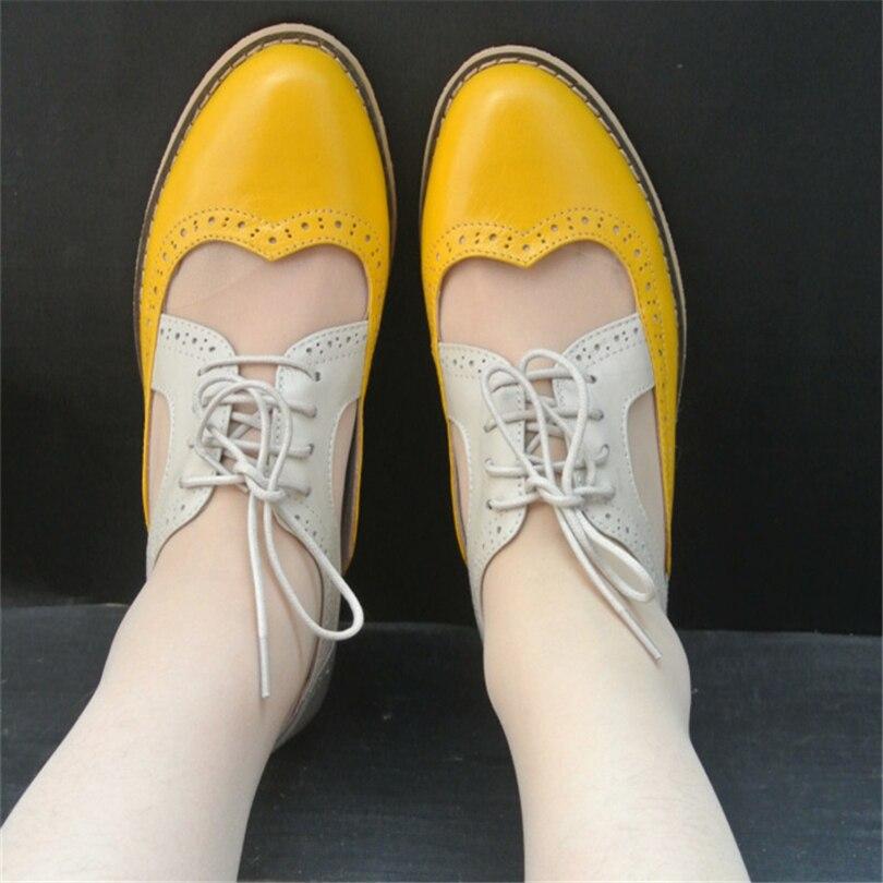 2017 women flat oxford sandals genuine leather handmade us11 10 5 flats green black yellow oxfords
