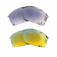 41046827322d9 Plata reflejado y 24 K oro espejo polarizado lentes de reemplazo para  botella Rocket marco 100% UVA y UVB