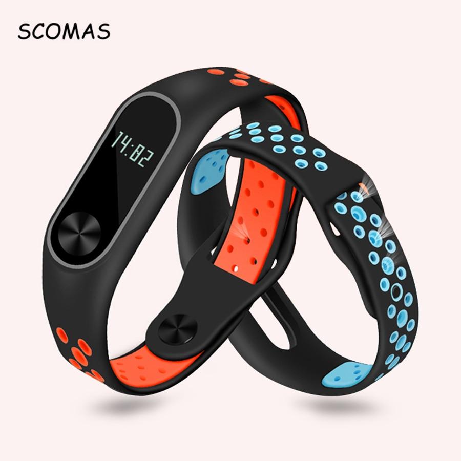 SCOMAS reemplazo para Xiao mi banda 2 silicona Smart Wristband pulsera para mi banda 2 cinturón pulsera para Xiao mi banda 2