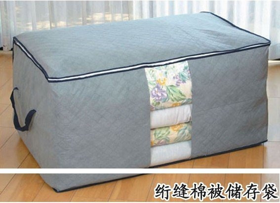 Free shipping.Bamboo Storage Series,quilt quilt,transparent windows storage box storage,best-selling(color same as picture)