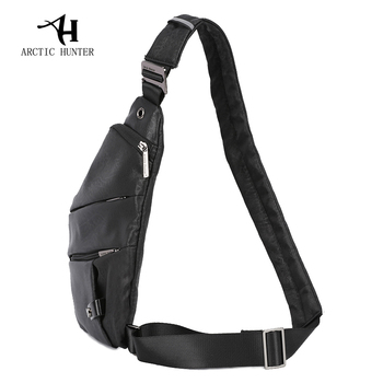 ARCTIC HUNTER Brand Male Messenger Bag Shoulder Bags Men Hidden Chest Pack Mens Retro Crossbody Bag Cool Motorcycle Sling Bag