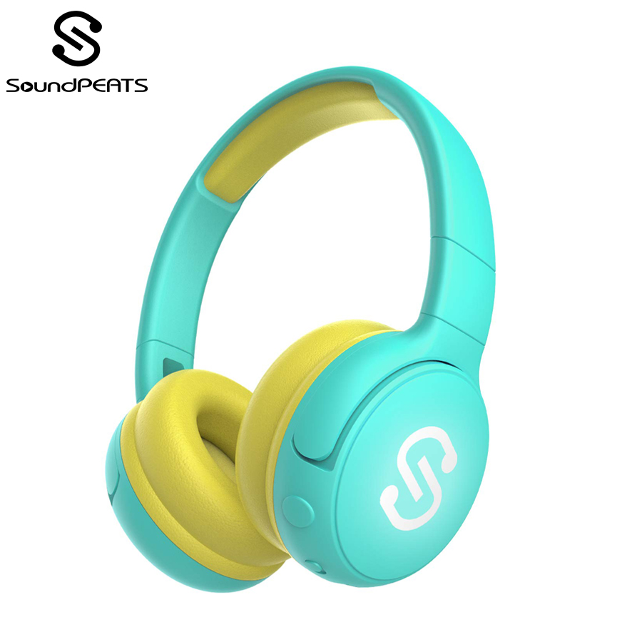 SoundPEATS Kids Bluetooth Wireless Headphones Stereo 85db Volume Limited Built-in Mic Over-Ear Children Foldable Headsets