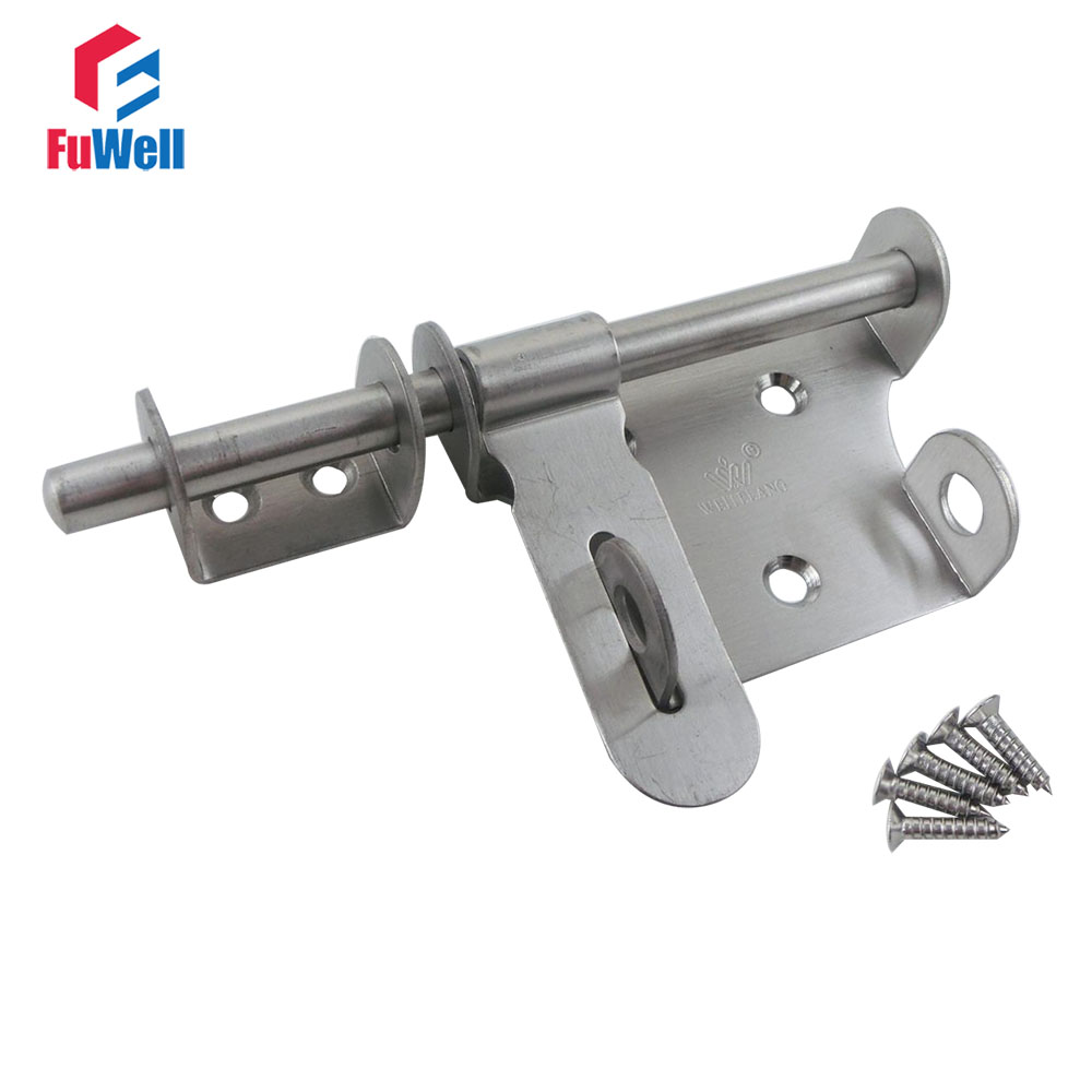 153mm Length Stainless Steel Security Door Bolt Free Shipping Gate Door Barrel Bolt Latch 50 percent off stainless steel gate door wall suction magnetic p41 strong resistance