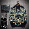 Palacio de estilo europeo y Americano de impresión de punto suéter suéter de cachemira 2016 de Otoño e Invierno de moda de alta calidad de los hombres M-4XL