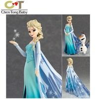1 satz elsa olaf PVC Action Figure Modell Spielzeug ornamente vinyl 22*21*7,5 cm mit retial box WJ02