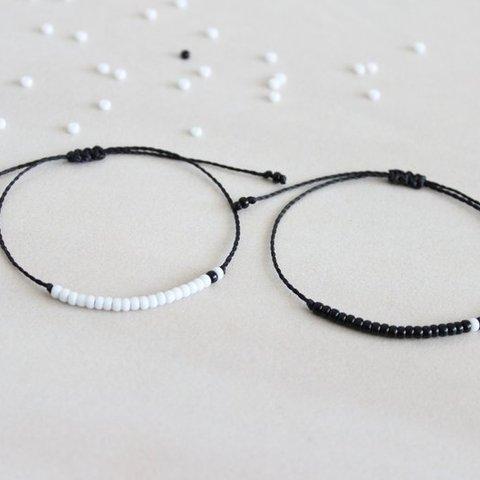 G.YCX Custom Name Braided Miyuki Couple Bracelet For Women Men His and Her Morse Code Bracelets Sister Brother BFF Gift Multan