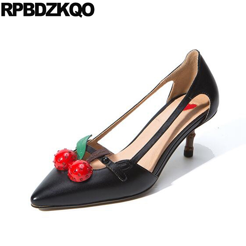 High Heels Luxury Shoes Women Designers Pointed Toe Plus Size Turquoise Sandals Pumps Genuine Leather Lady D'orsay 12 44 Cherry lady plus size 35 46 sexy mesh patching customized luxury diamond pointed toe genuine leather high heels shoes women pumps party