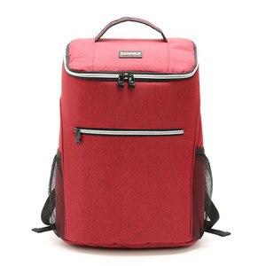 Image 2 - 20L 600D أكسفورد حقيبة للحفاظ على البرودة الحرارية الغداء نزهة صندوق معزول حقيبة ظهر باردة الجليد حزمة الطازجة الناقل حقائب كتف الحرارية
