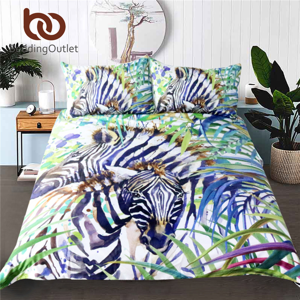 popular nature bedding setsbuy cheap nature bedding sets lots  - beddingoutlet zebra duvet cover set  pcs watercolor exotic wild animal naturebedding set printed soft