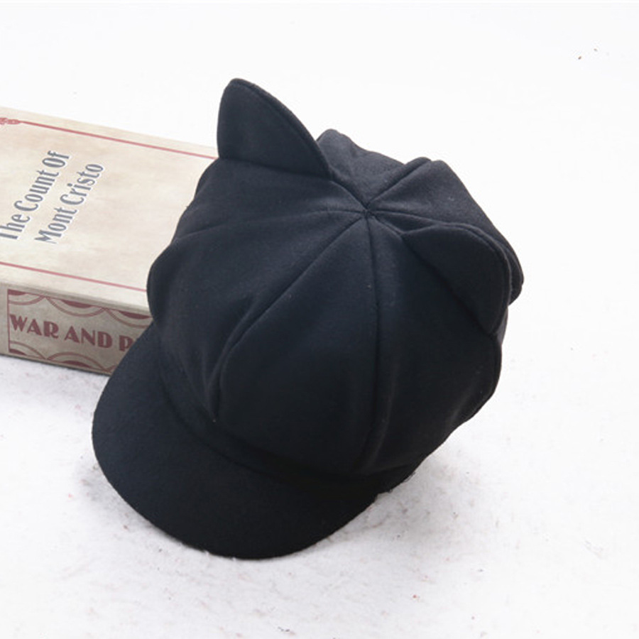 8b2f7f246d81a 2017 New Arrive Children Vintage Winter Wool Sweet Lovely Buds Bailey  Octagonal Newsboy Cap Boys Girls Painter Beret Hat Gifts-in Newsboy Caps  from Apparel ...
