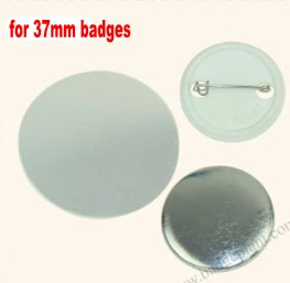 37mm Badge maker Button making supplies 1000pcs shells + films+ back pins все цены