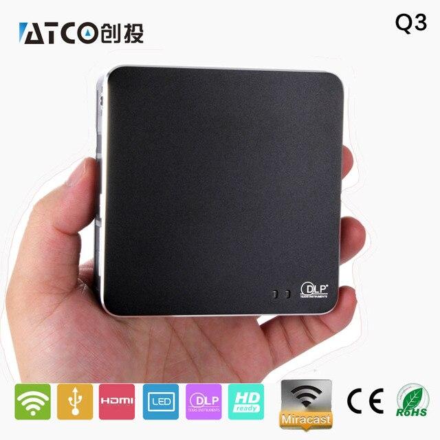 2016 Newest 800 * 480 1080 P Miracast / dlna-трансляции Q3 UC40 портативный проектор, Умный для смартфонов / планшет пк