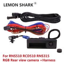 RGB Rear View Reversing Camera RVC Trunk Handle For VW Jetta Golf Plus Tiguan Passat B6 B7 RNS510 RCD510 RNS315 18D827566A rgb rns315 rns 510 rcd 510 box cvbs to rgb and av to rgb converter adapter for vw passat cc tiguan oem flip rear view camera