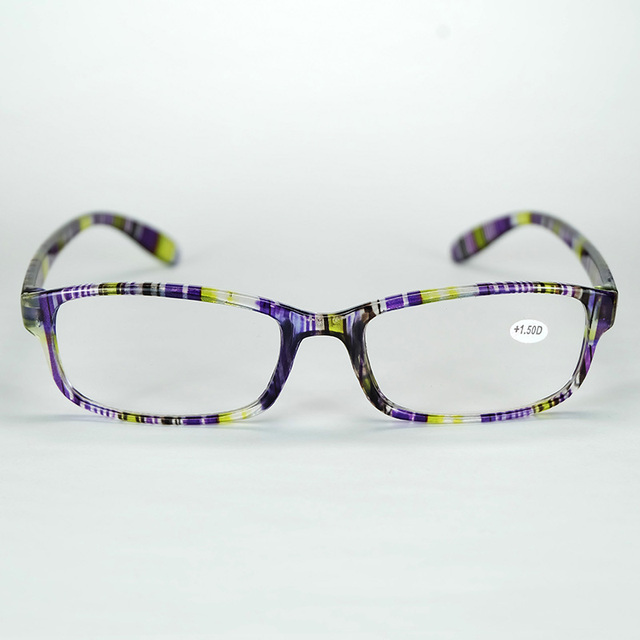 Wholesale Cheap Good Quality Comfortable Reading Glasses Simple Colorful Plastic Frame With Power Lenses 20pcs/Lot