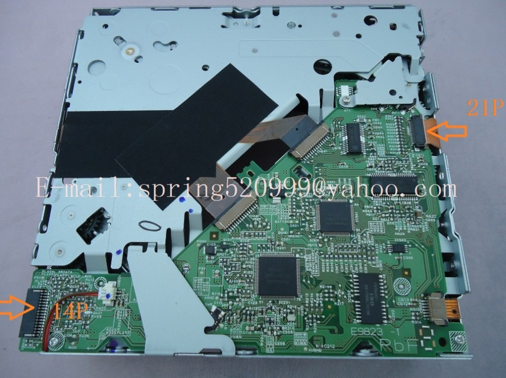 Brand new Matsushita 6 disc cd changer mechanism E9823-1 For Mazzdda CX9 VW Q7 A4L Car mp3 CD player