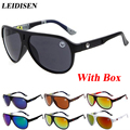 With box New Men Brand designer Sunglasses Fashion Retro Vintage Glasses Women/Men Sports Goggle Eyewear Oculos de sol feminino
