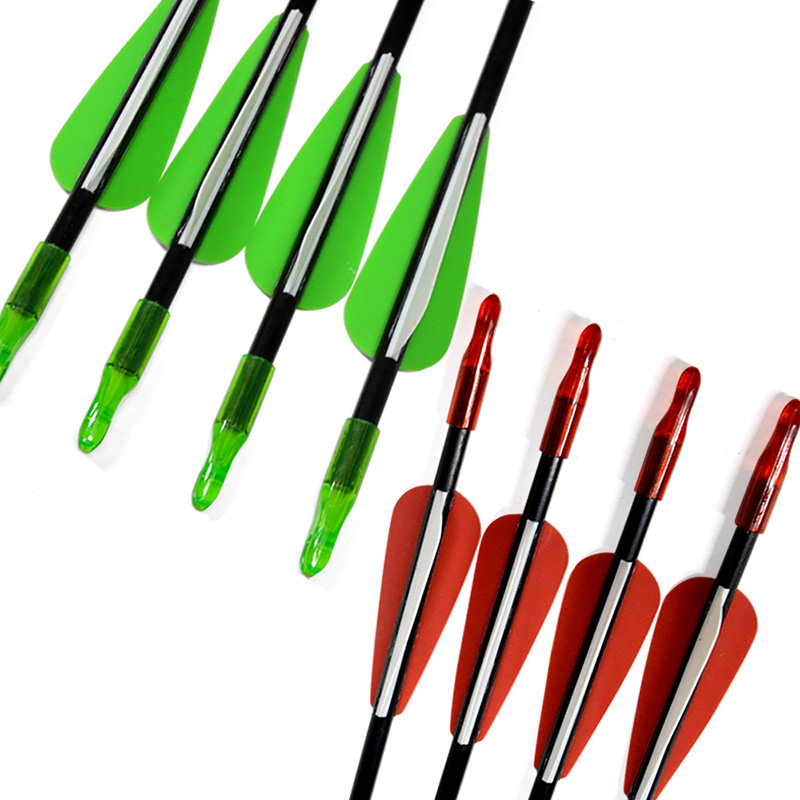 12 PCS 80cm Glassfiber Rubber feather Arrow Replaceable Arrowhead Length Archery Recurve Bow Children 39 s Basic Training in Darts from Sports amp Entertainment