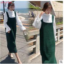 Осенняя мода для беременных женщин, 2 предмета, свитер, топы, Одежда для беременных женщин, платье, милые платья для беременных