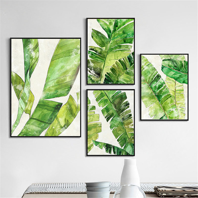 US $3.22 45% OFF HAOCHU Canvas Decorative Painting Nordic Fresh Tropical on india house plants, prairie house plants, butterfly house plants, blue house plants, alpine house plants, live house plants, alaska house plants, mangrove house plants, black house plants, coffee house plants, forest house plants, tropical house plants, river house plants, lake house plants, jungle house plants, photography house plants, sunset house plants, beach house plants, organic house plants, eucalyptus house plants,