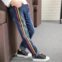 Thời trang Nam Quần Jean 2017 mùa thu Mới Trẻ Em Cowboy Quần Trai quần áo trẻ em Slim Fit Hàn Quốc jean cho 4 7 9 11 13 tuổi