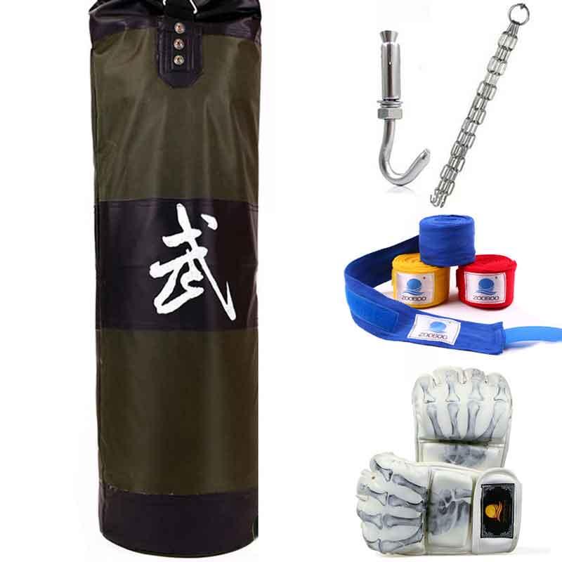 100cm Boxing Sandbags Striking Drop Hollow Empty Sand Bag with Chain Martial Art Training Punch Target Punching Bag Sandbag