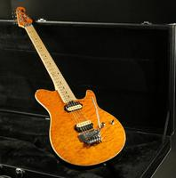 Good Qaulity Music Men Electric Guitar FR Bridge Zebra Pickups 3A Quilted Maple Top Yellow Color