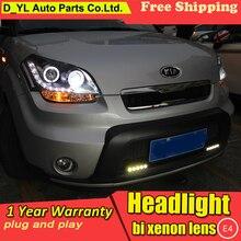 DY_L автомобильный Стайлинг Головной фонарь для Kia Soul 2010-2013 светодиодный фонарь DRL H7/D2H HID Xenon bi xenon объектив