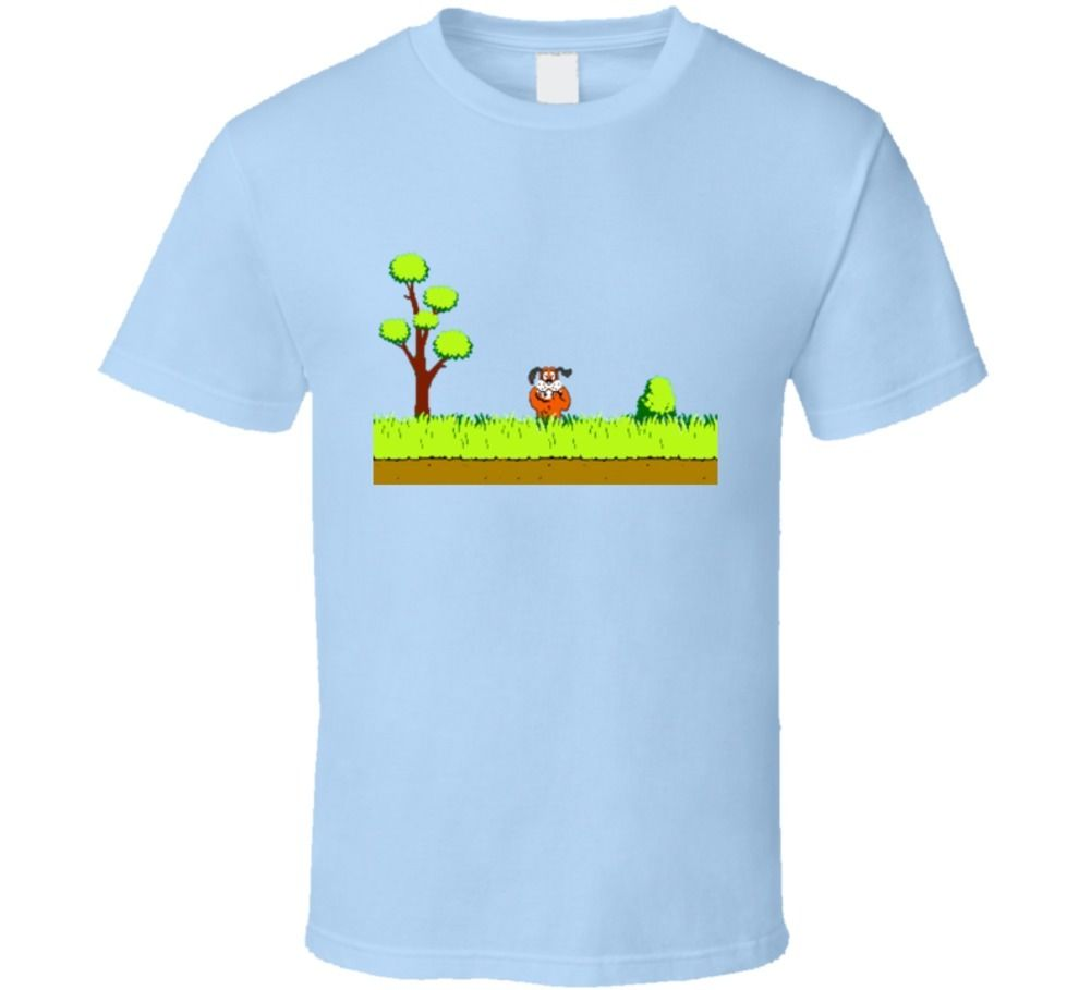 Duck Hunt Video Game Retro Old School Funny T shirt