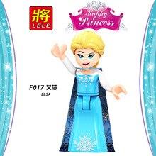 Одиночная друзей для девочек Эльза строительные блоки игрушки для детей принцесса Анна лучший друг фигурка Белль