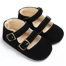 Summer 0-18M Baby Girls Retro Toddlers Prewalkers Suede PU Shoes Infant Soft Bottom First Walkers New Arrival(China)