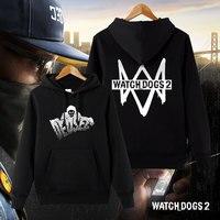 Watch Dogs Sweatshirt Series Dogs Men's Fleece Sportswear Hoodies Casual Autumn/Winter Hooded