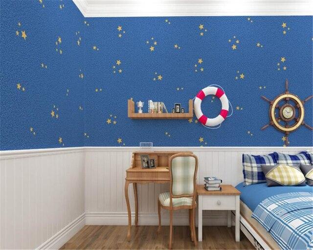 Beibehang kinderen cartoon behang behang jongen meisje donkerblauw