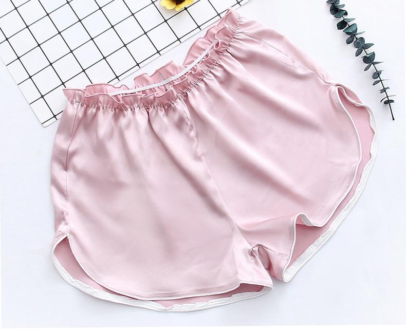 Queenral Women Silk Pajamas 7pcs Sets Pyjamas Set Women Underwear Home Clothes Sexy Pajamas For Women Night Suit Sleepwear  18