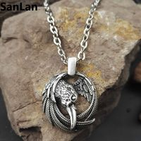 1pcs Vikings Pendant Necklace Norse Raven Pendant Necklace Odins Pendant Huginn And Muninn Unisex Jewelry With