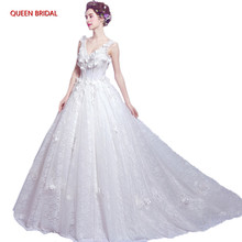 Elegant Bride Wedding Dresses High Quality Tulle Lace Beading Wedding Gowns for Women Vestido De Noiva Bridal Gowns DR32