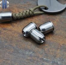 Titanium Alloy TC4 Knife Beads Bullet Shell Polishing Pendant Umbrella Rope EDC Tool Paracord