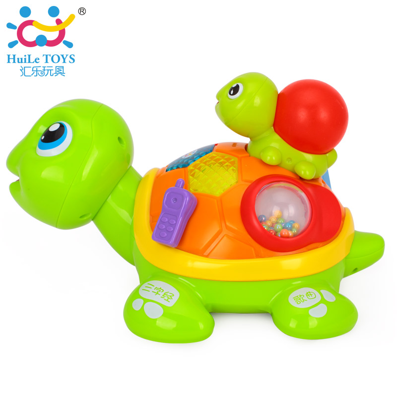 ФОТО Kids Learning & Educational Toy Parent-child Turtle with Music/Light/Sound Control/Sensor Developmental Toys for Baby 6M+