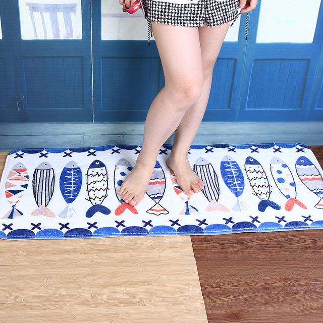 Bath Mats Kitchen Bathroom Carpet Bibulous Antiskid Bath Carpets Doormat Floor Rug Washable Soft and Comfortable Wool