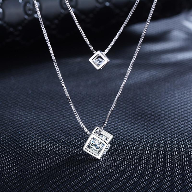 Elegant Women Crystal Drop Pendant Adjustable Chain Necklace Jewelry On Sale