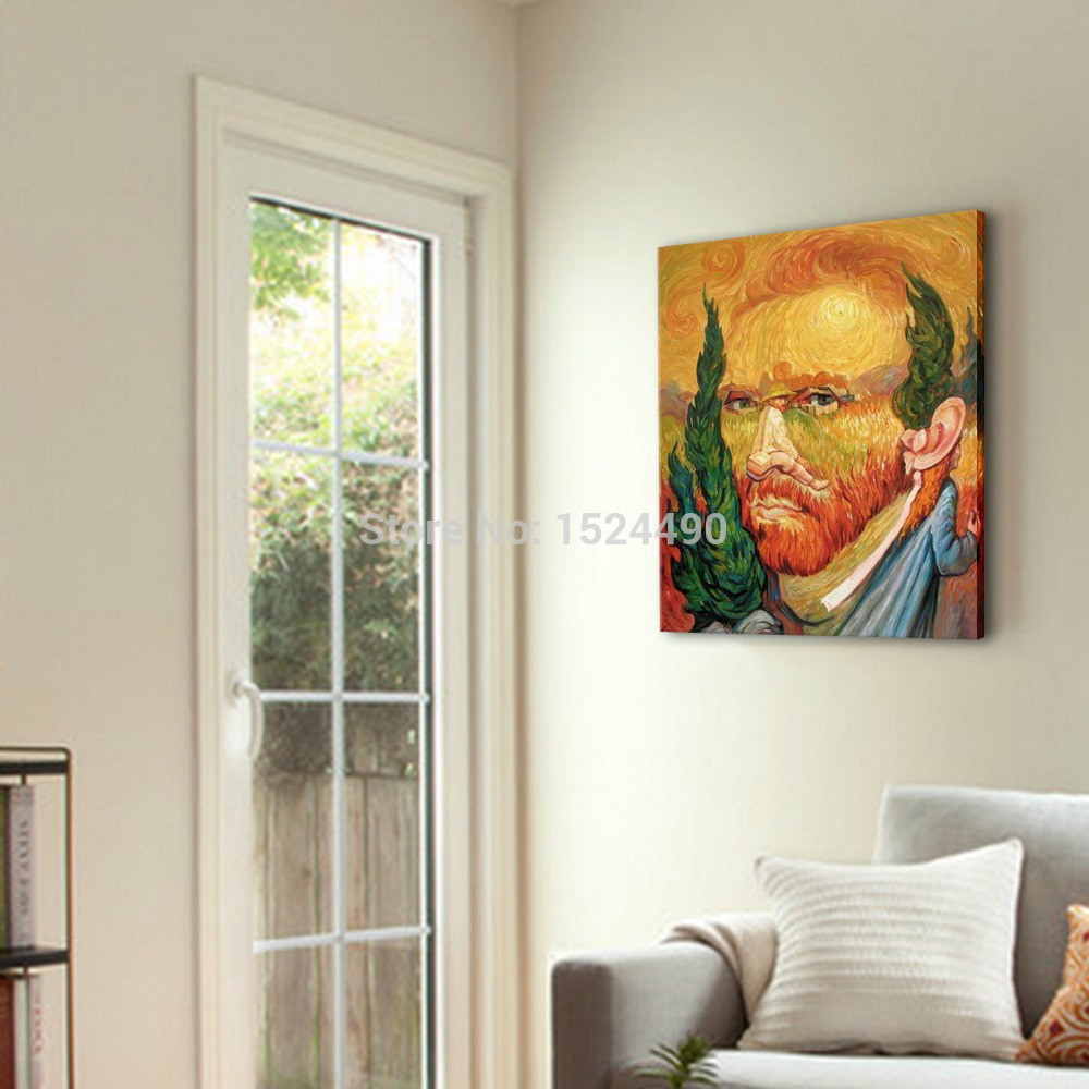 Hand Painted High Q. World Top Famous Paintings Vincent Van Gogh Self  portraits Oil Painting On Canvas Wall Art For Living Room-in Painting &  Calligraphy ...