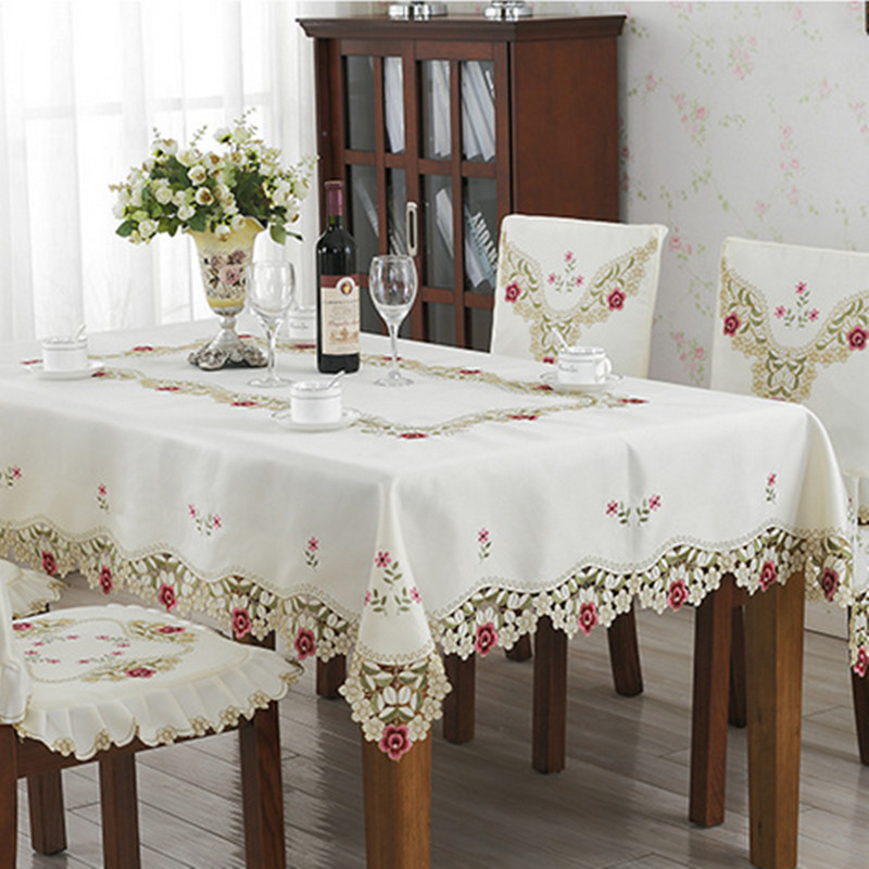 New Design Elegant Polyester Embroidery Tablecloth