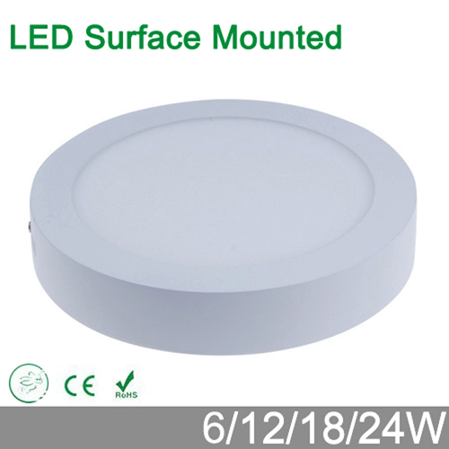 High Brightness 6W 12W 18W 24W Round/Square LED Panel Light Surface Mounted Downlight Lighting LED Ceiling Down Lamp AC 85-265V