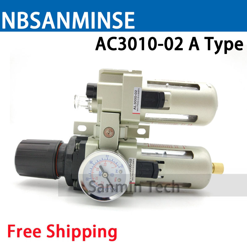 Air Preparation Unit AC 2010 1/8 1/4 3/8 1/2 3/4 1 Two Units Air Source Units SMC Type FRL Air Compressor Part Auto Drain Sanmin rfid ic reader ip65 waterproof black color mf card reader for door access control system weigand34 13 56mhz sm kr201 min 5pcs