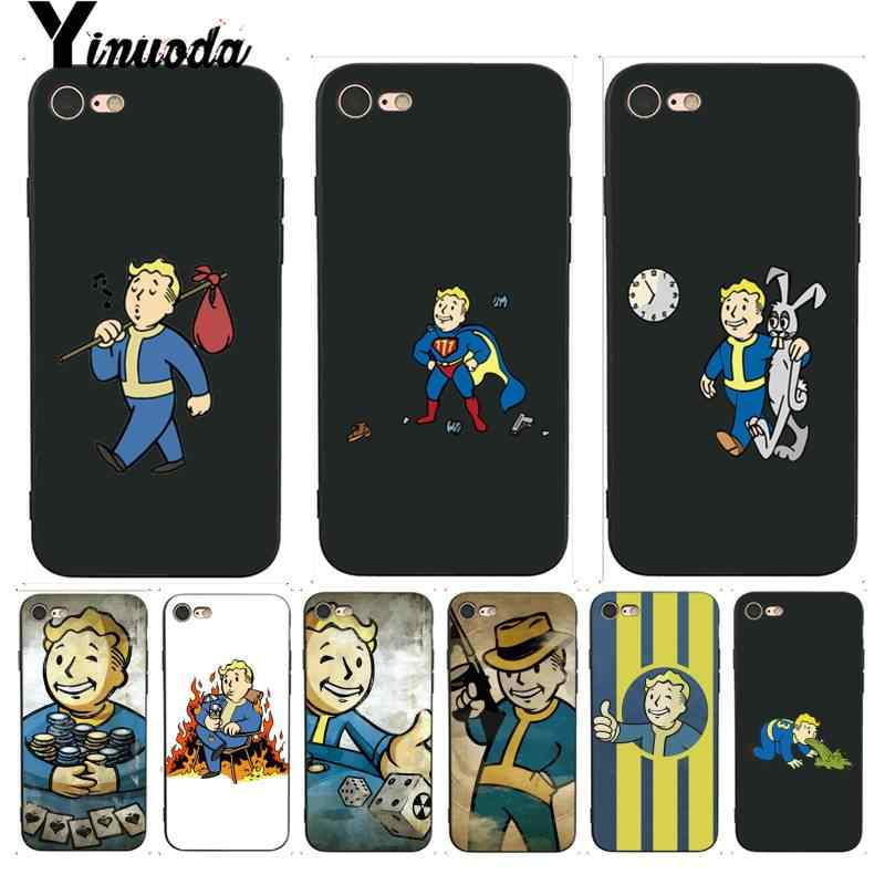 Yinuoda For Iphone 7 6 X Case Pip Boy Fallout Luxury Coque Shell Phone Case For Iphone 7 X 6 6s 8 Plus X 5 5s Se Xr Xs Xsmax