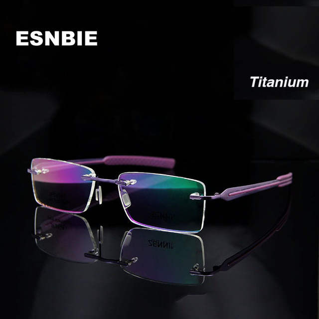708b9139b9e placeholder Fashion Neon Colorful Titanium Eyeglasses Rimless Glasses Frame  Women Prescription Eyewear in Optical Lens Rx Eye