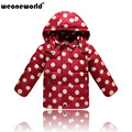 WEONEWORLD 2017 Girls Warm Coat Baby Winter Long Sleeve Polka Dot Jacket Children Cotton-padded Clothes Kids Boys Girls Outwear
