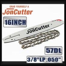 Farmertec fabriqué en combinaison avec chaîne et barre de guidage, 16 pouces, 3/8 LP .050 57DL, pour tronçonneuse JonCutter G3800
