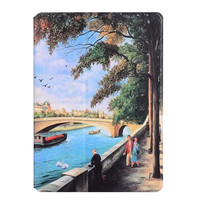 Fashion Cover For IPad Air Luxury Printings Design Flip PU Leather Case Stand Cover For IPad