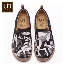 Canvas Loafers Flat-Shoes UIN Slip-On sneakers Painted Design Women Travel Secondary-Element